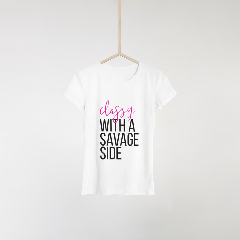 Classy with a  Savage Side Tee - Pretty Fab Things