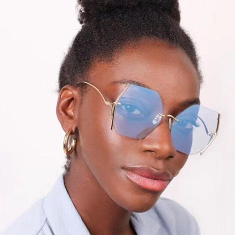FAB Rimless Over-sized Sunglasses - Pretty Fab Things