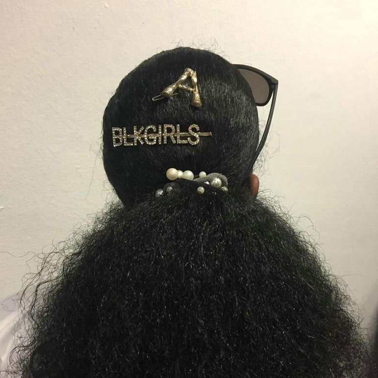 Gold Rhinestone Black Girls Word Hair Clips & Accessories - Pretty Fab Things