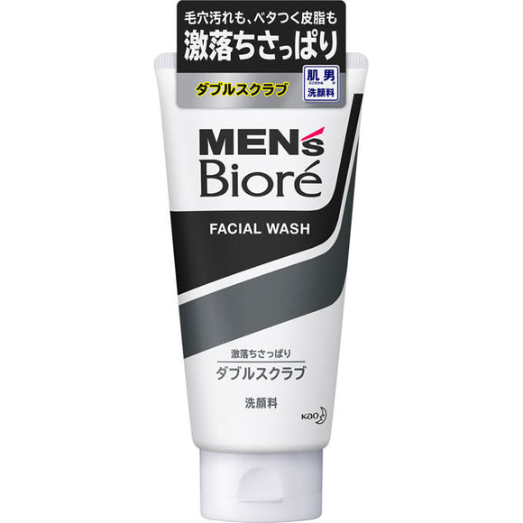 Kao Men'S Biore Double Scrub Face Wash 130G