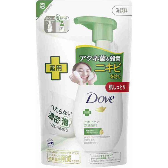 Unilever Japan Dove Acne Care Creamy Foam Face Wash Refill 140Ml