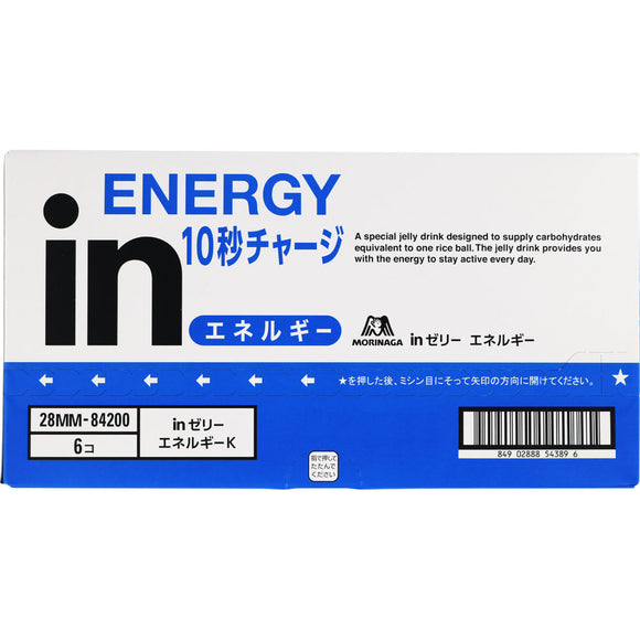 Morinaga Confectionery in Jelly Energy 6P 180gx6P