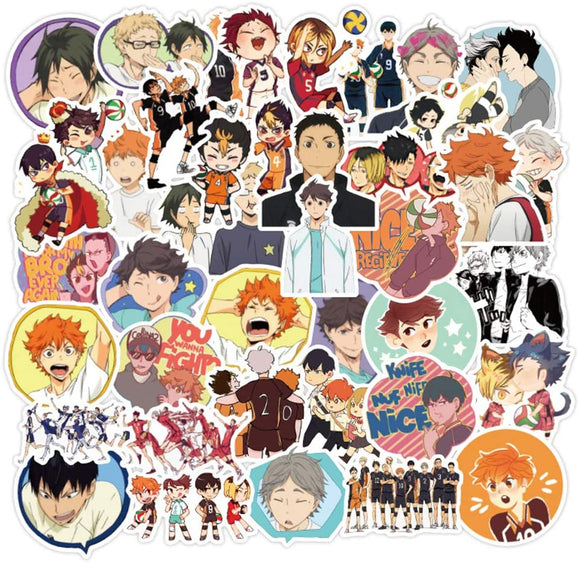 Haikyu Goods 50 Stickers Stickers Kids, Cars, Motorcycles, Bicycles, Skateboards Luggage, Waterproof Cute