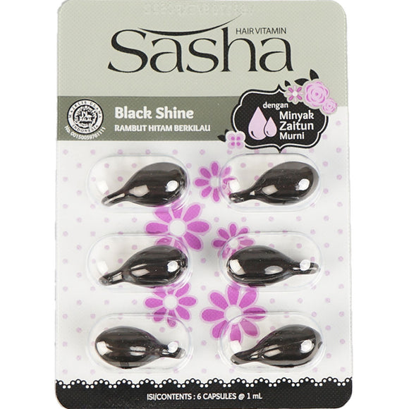 Sasha Black Shine Hair Oil 1Ml×6