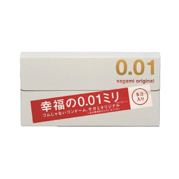Sagami Original 0.01 Happiness 0.01Mm condoms, 5-Pack