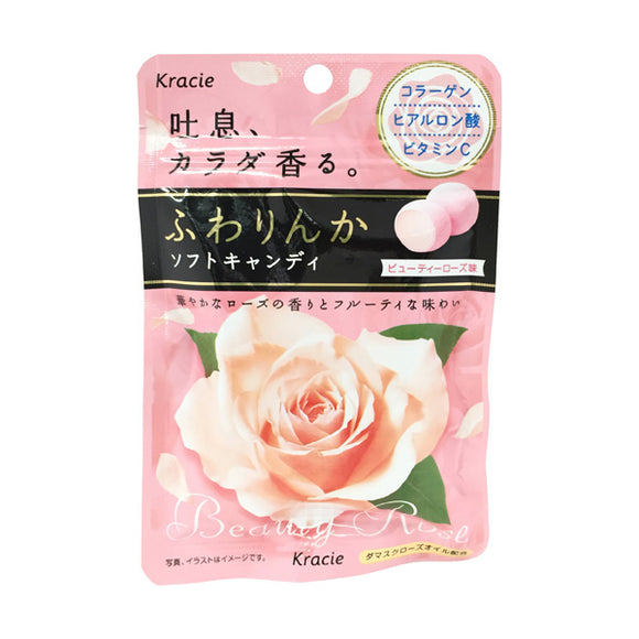 Kracie Fuwarinka Soft Candy, Fruity Rose Flavor 3 Bags