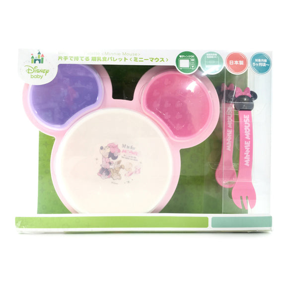 Hold-With-One-Hand Baby Food Palette, Minnie Mouse