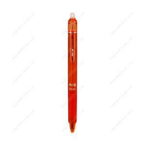 Pilot Frixion Ball Knock, 0.5Mm, Erasable Ballpoint Pen, Orange