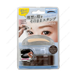 Kiss New York Eyebrow Stamp, Trendy Straight Type, Natural Brown