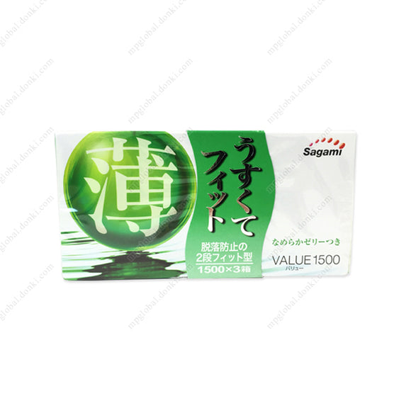Sagami Usukute-Fit, Value 1500, 12 X 3 Boxes