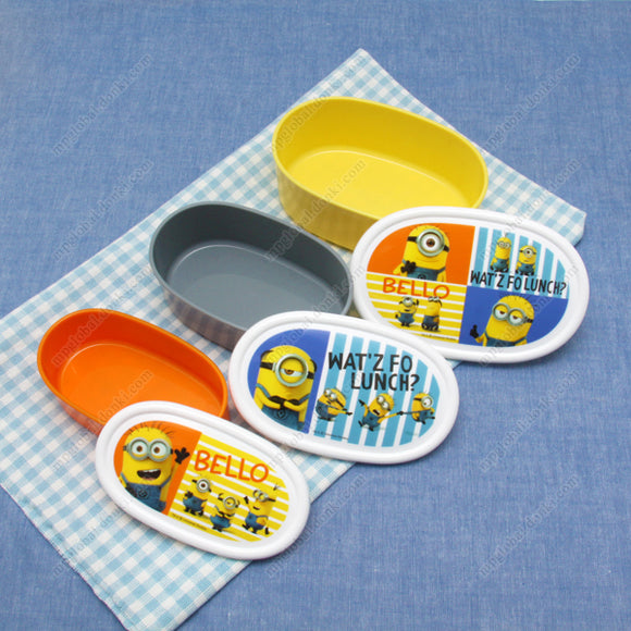 Lunch Box Sealed Containers, 3P Set, Minions 3