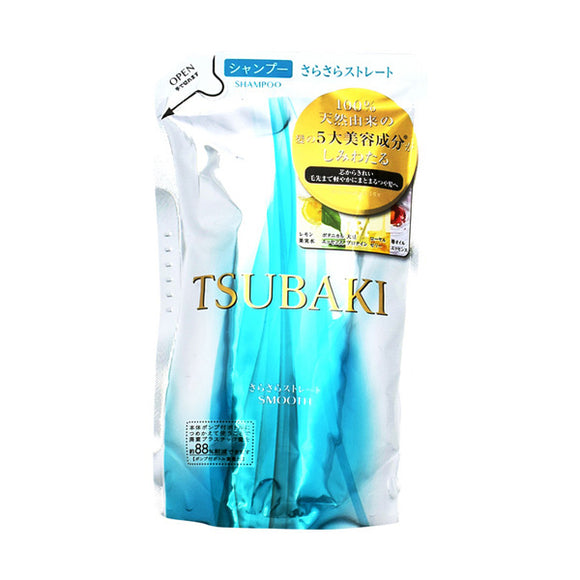 Tsubaki Smooth Straight Shampoo, Refill, 330Ml