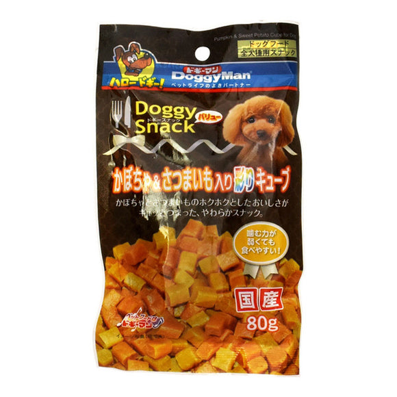 Doggy Snack, Value, Colorful Cubes W/Pumpkin & Sweet Potato (For All Dog Types)
