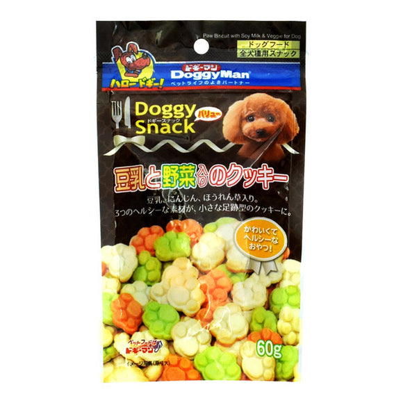 Doggy Snack, Value, Cookies W/Soymilk & Vegetables (Or All Dog Types)