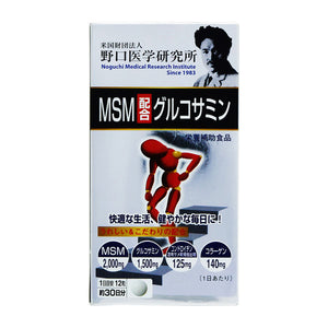 Noguchi Medical Research Institute Formulated With Msm Glucosamine 360 Tablets