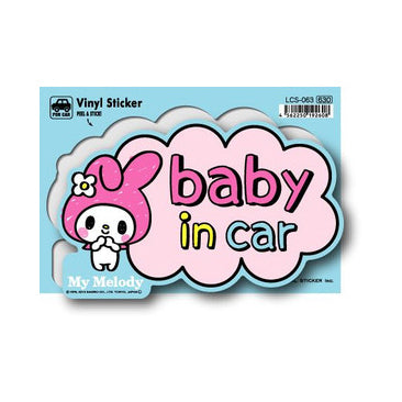 Lcs-063 My Melody Baby In Car Sticker