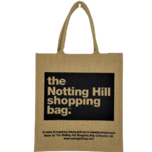 Brown-Black Jute Bag / Notting Hill Shopping Bag - Notting Hill Shopping Bag