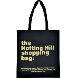 Black Jute Bag / Notting Hill Shopping Bag - Notting Hill Shopping Bag