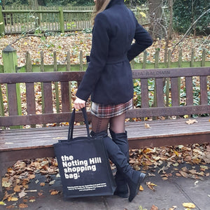 Black Jute Bag / Notting Hill Shopping Bag - The Notting Hill Shopping Bag