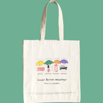 Great British Weather | Notting Hill Shopping Bag - Notting Hill Shopping Bag