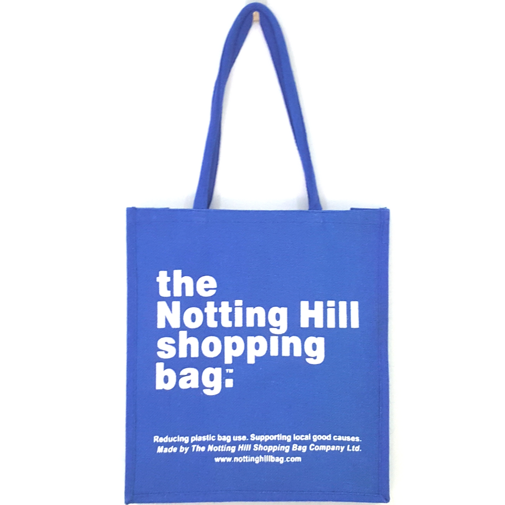 Blue Jute Bag / Notting Hill Shopping Bag - Notting Hill Shopping Bag