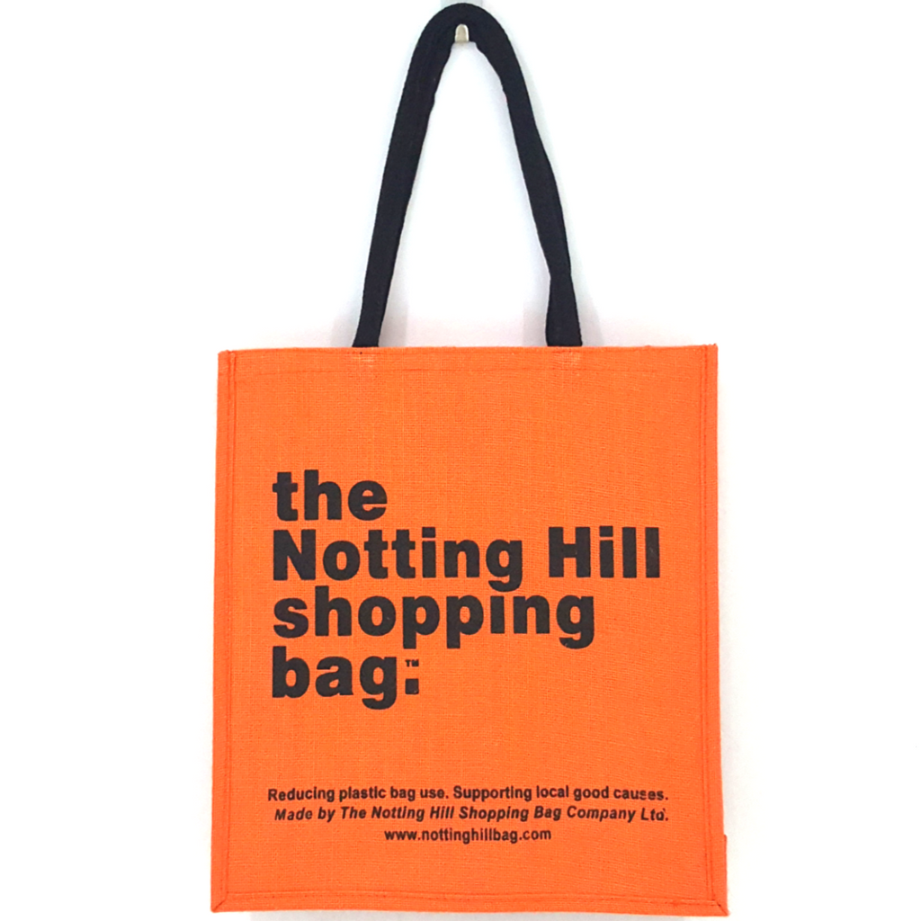 Orange Jute Bag / Notting Hill Shopping Bag - Notting Hill Shopping Bag