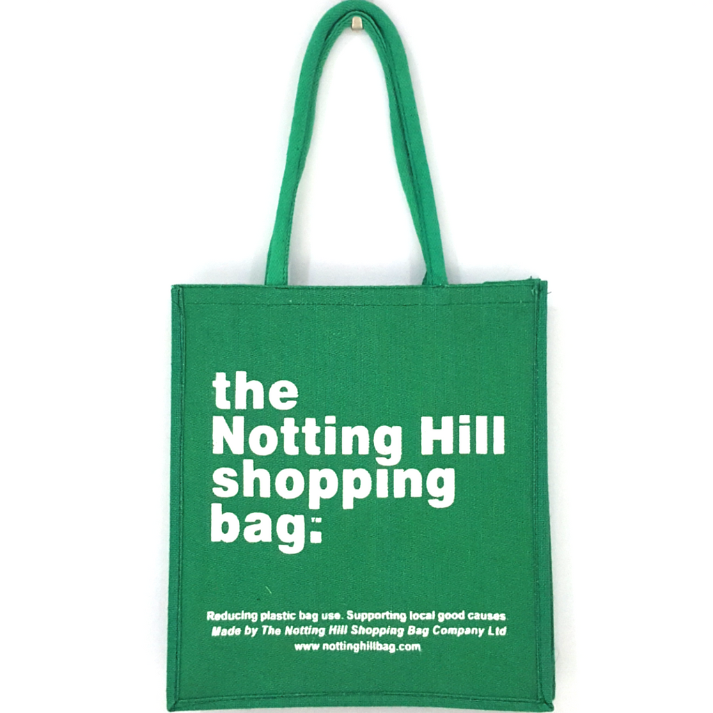 Green Jute Bag / Notting Hill Shopping Bag - Notting Hill Shopping Bag