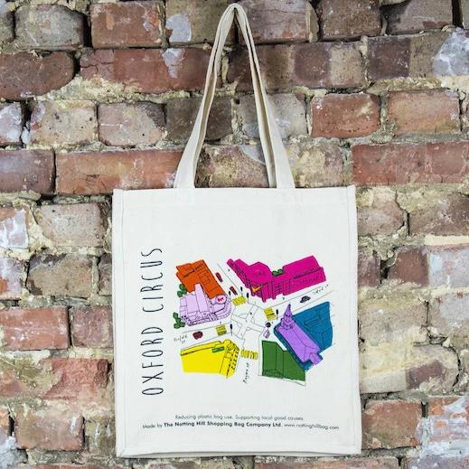 Oxford Street Map - The Notting Hill Shopping Bag