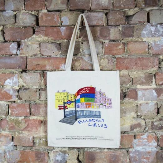 Piccadilly Circus - the-notting-hill-shopping-bag