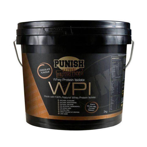 Punish Nutrition Whey Protein Isolate (WPI) 3kg Chocolate