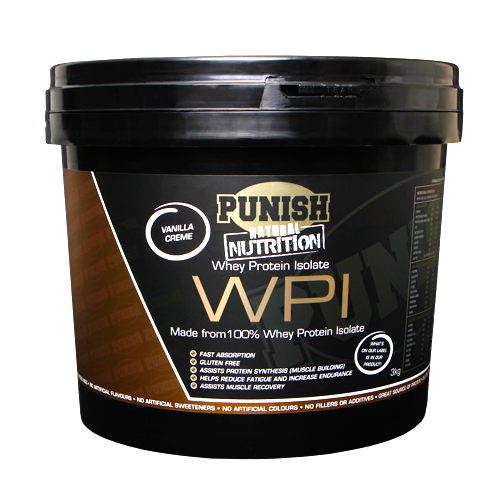 Punish Nutrition Whey Protein Isolate (WPI) 3kg Vanilla
