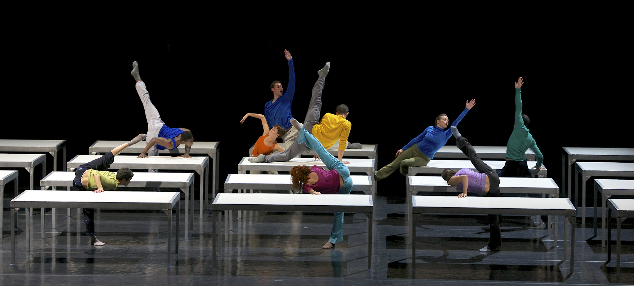 Lyon Opera Ballet in Forsythe's One Flat Thing reproduced (2010)