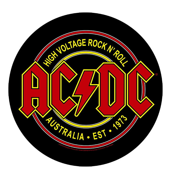AC/DC - 'High Voltage Rock N Roll' Back Patch
