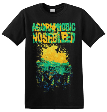 AGORAPHOBIC NOSEBLEED - 'Burning Coffin' T-Shirt