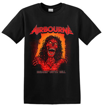 AIRBOURNE - 'Breakin' Outta Hell  Skeleton' T-Shirt