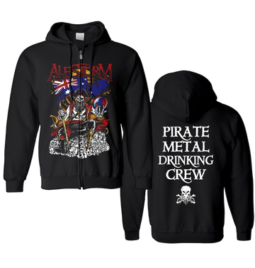 ALESTORM - 'Pirate Metal Drinking Crew' Zip-Up Hoodie