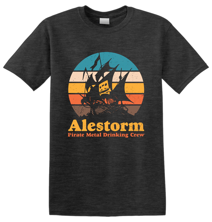 ALESTORM - 'Retro Sunset' T-Shirt