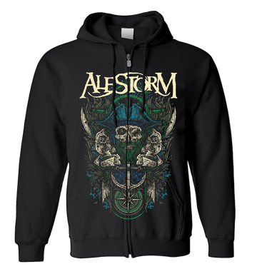 ALESTORM - 'Rum Beer Quests Mead' Zip-Up Hoodie