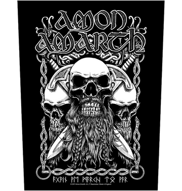 AMON AMARTH - 'Bearded Skull' Back Patch
