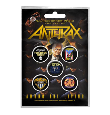 ANTHRAX - 'Among The Living' Badge Set