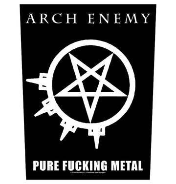 ARCH ENEMY - 'Pure Fucking Metal' Back Patch