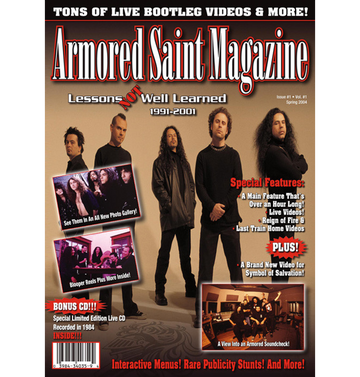 ARMORED SAINT - 'A.S.Magazine - Lessons Not Well Learned' DVD