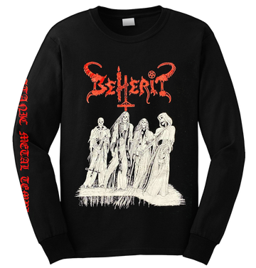 BEHERIT - 'Satanic Metal Temple - Oath Of Black Blood' Long Sleeve