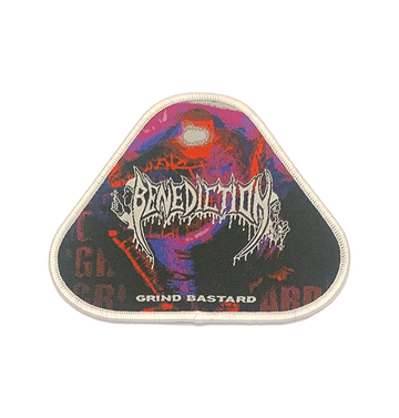 BENEDICTION - 'Grind Bastard (White Edging)' Patch