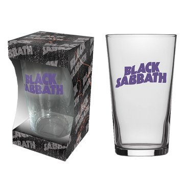 BLACK SABBATH - 'Purple Logo' Beer Glass
