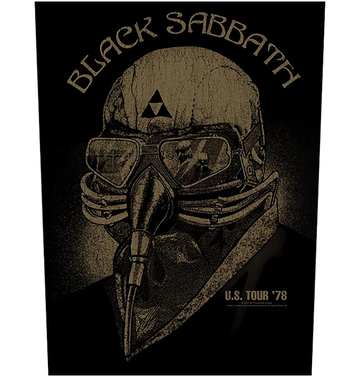 BLACK SABBATH - 'US Tour '78' Back Patch