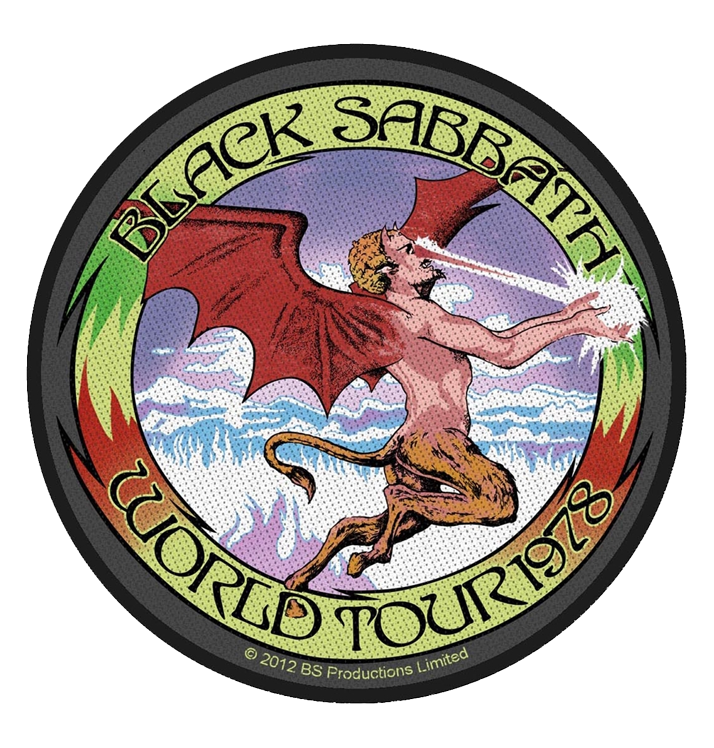 BLACK SABBATH - 'World Tour '78' Patch
