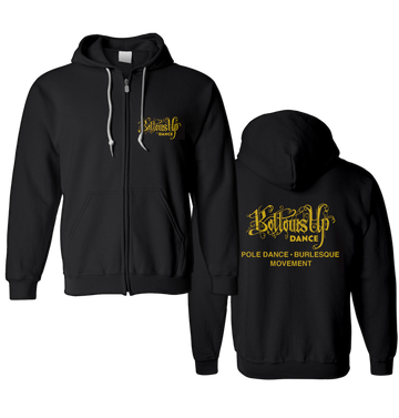 BOTTOMS UP - 'Gold Logo' Zip-Up Hoodie