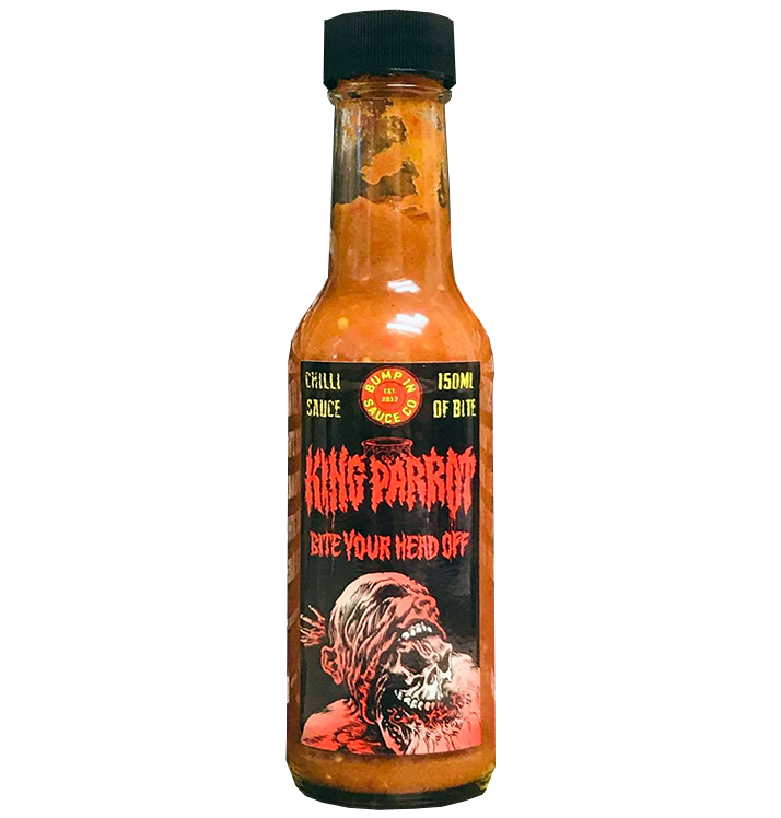 BUMP IN SAUCE CO - King Parrot 'Bite Your Head Off' Chilli Sauce' 150ml Hot Sauce