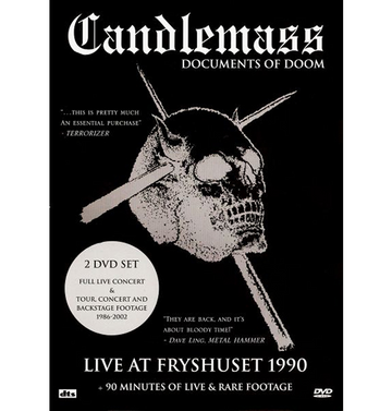CANDLEMASS - 'Documents Of Doom' 2xDVD
